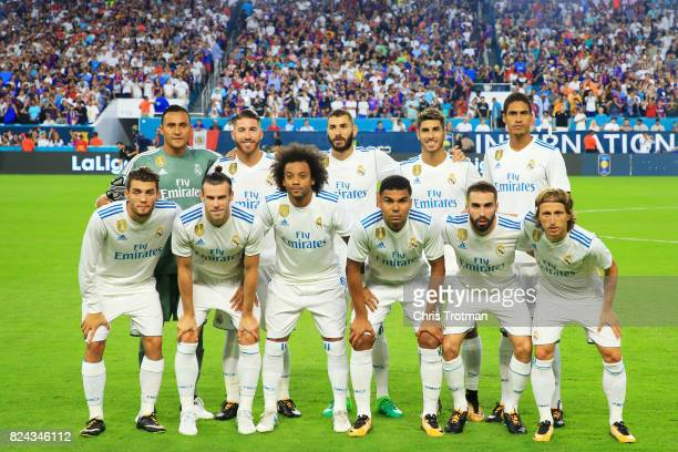 Real Madrid poses for a team photo prior to their International Champions Cup 2017 match against Barcelona at Hard Rock Stadium on July 29 2017 in...
