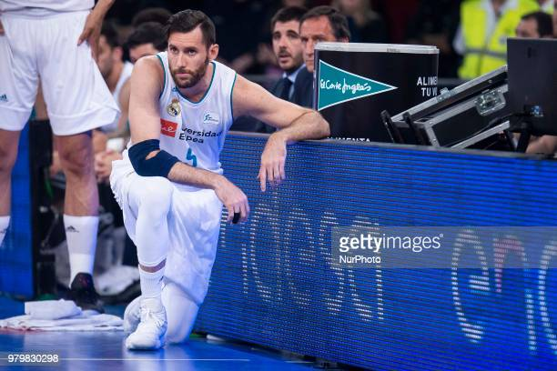 Real Madrid Rudy Fernandez during Liga Endesa Finals match between Kirolbet Baskonia and Real Madrid at Fernando Buesa Arena in Vitoria Spain June 19...