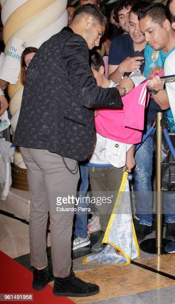 Real Madrid soccer player Achraf Hakimi attends the 'Hombre de Fe' premiere at Luxury cinema on May 22 2018 in San Sebastian de los Reyes Spain