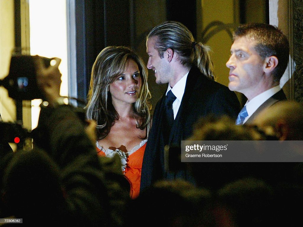The beckhams leave claridges hotel pictures getty images real madrid soccer player david beckham c and his wife victoria beckham m4hsunfo