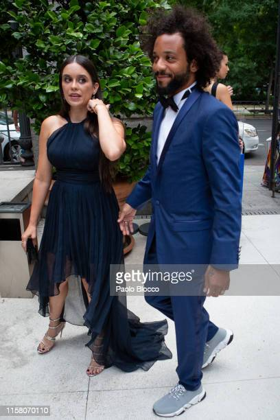 Real Madrid soccer player Marcelo Vieira and wife Clarisse Alves is seen arriving at 'Yo Dona' International Awards 2019 at ThyssenBornemisza Museum...