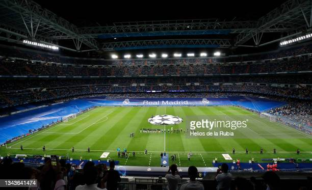 Real Madrid squad in action during the UEFA Champions League group D match between Real Madrid and FC Sheriff at Estadio Santiago Bernabeu on...