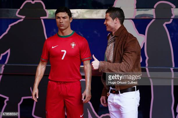 Real Madrid striker Cristiano Ronaldo attended the presentation of him figure in the Madrid Wax Museum, which the Portuguese player has said it is...