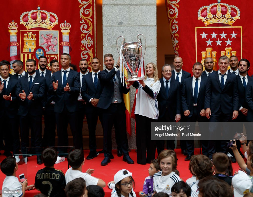 Real Madrid Celebrate UEFA Champions League Victory In Madrid : News Photo