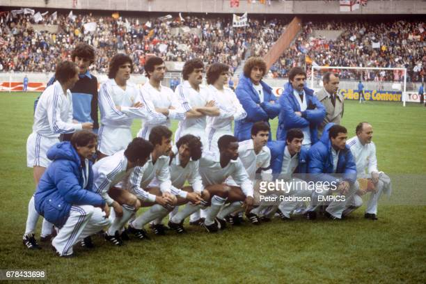 Real Madrid team group before the match includes Laurie Cunningham