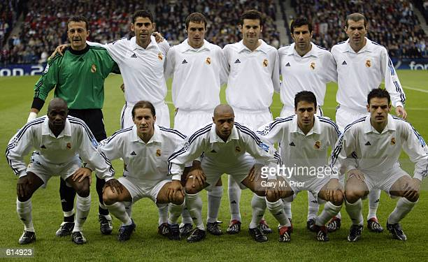 Real Madrid team group taken before the UEFA Champions League Final between Real Madrid and Bayer Leverkusen played at Hampden Park in Glasgow...
