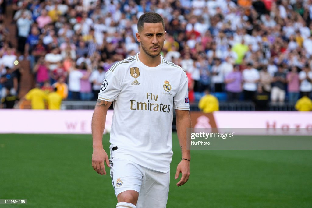 Real Madrid Unveil New Signing Eden Hazard : News Photo