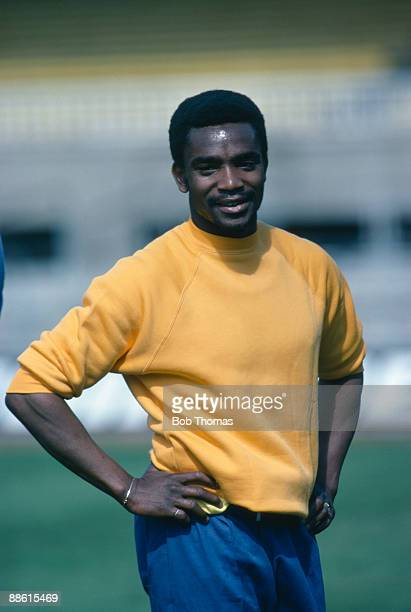 Real Madrid winger Laurie Cunningham training with the England team prior to the International friendly against Spain in Barcelona 25th March 1980
