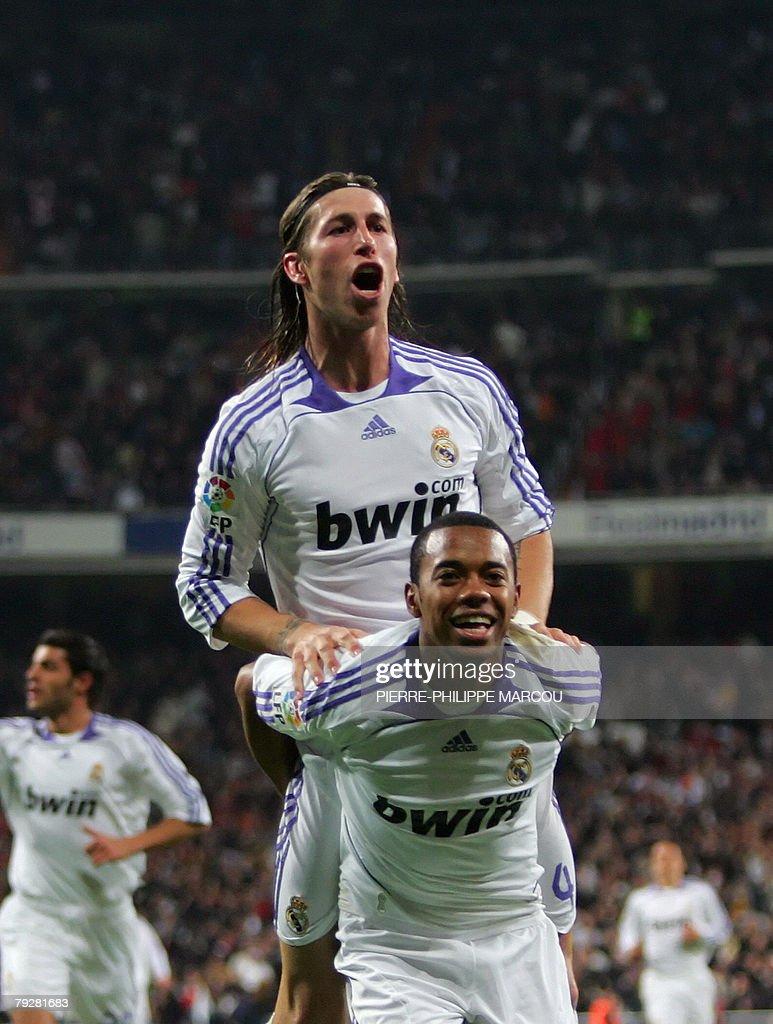 655f8945f Real Madrid s Brazilian forward Robinho celebrates his second goal ...