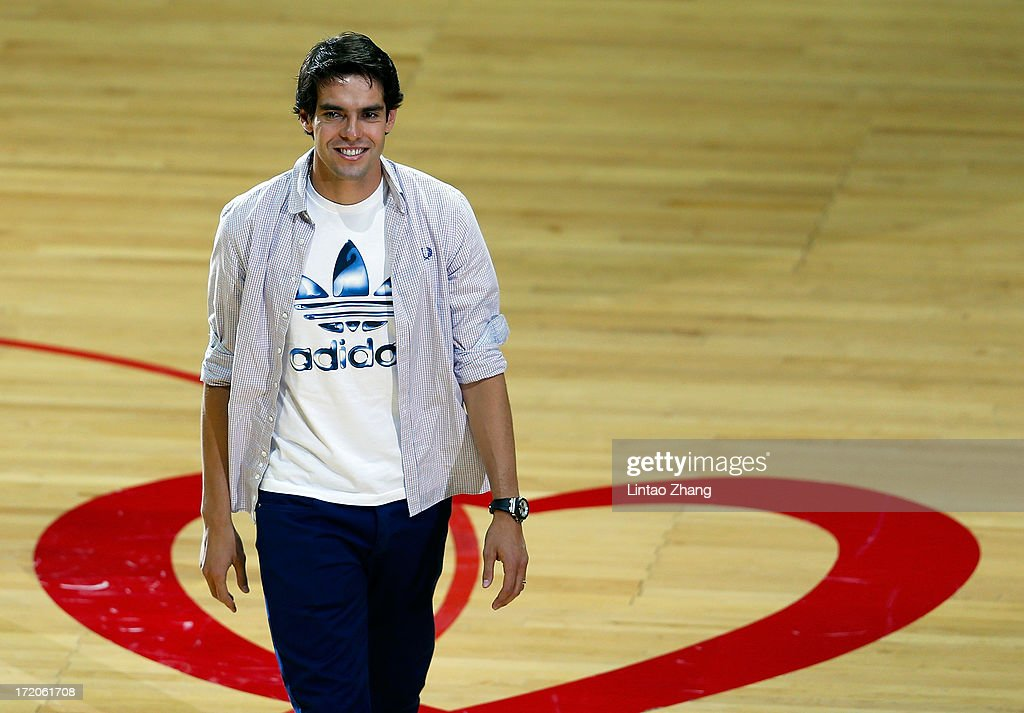 Real Madrid's Brazilian midfielder Kaka attends the 2013 Yao Foundation Charity Game between China and the NBA Stars on July 1, 2013 in Beijing, China.