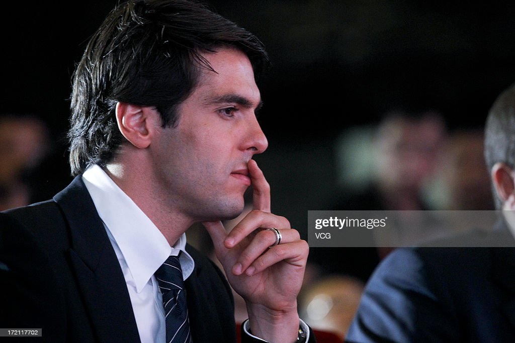 Real Madrid's Brazilian midfielder Kaka attends the Grand Sino-Brazil Cultural and Sports Exchange Activities and Sino-Brazil Football Carnival launching ceremony at National Stadium on July 2, 2013 in Beijing, China.
