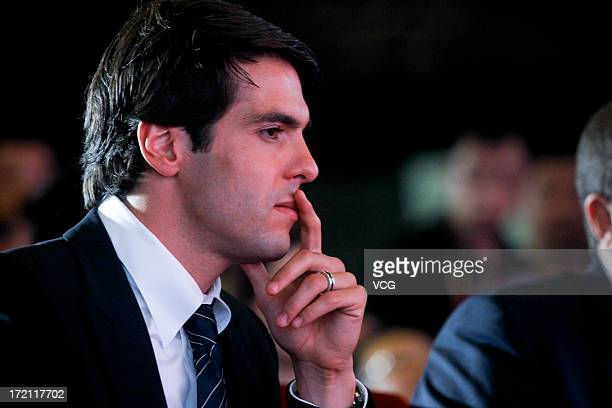 Real Madrid's Brazilian midfielder Kaka attends the Grand SinoBrazil Cultural and Sports Exchange Activities and SinoBrazil Football Carnival...