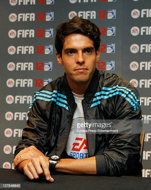 Real Madrid's Brazilian midfielder Kaka Launches 'FIFA 12' videogame for PC PS3 and Xbox 360 at FNAC Madrid on September 28 2011 in Madrid Spain