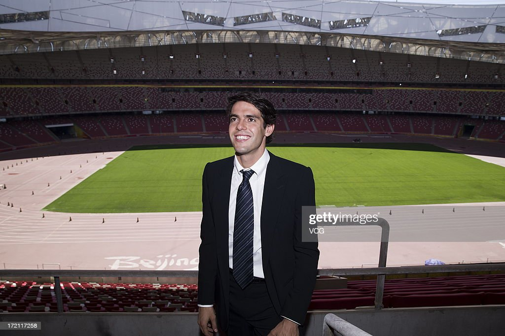 Real Madrid's Brazilian midfielder Kaka visits the National Stadium on July 2, 2013 in Beijing, China.