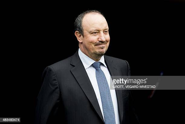 Real Madrids coach Rafael Benitez is pictured prior to a friendly match between Valerenga IF and Real Madrid at Ullevaal Stadium in Oslo Norway on...