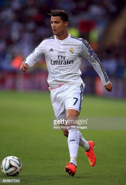 Real Madrid's Cristiano Ronaldo during the UEFA Super Cup Final at the Cardiff City Stadium Cardiff