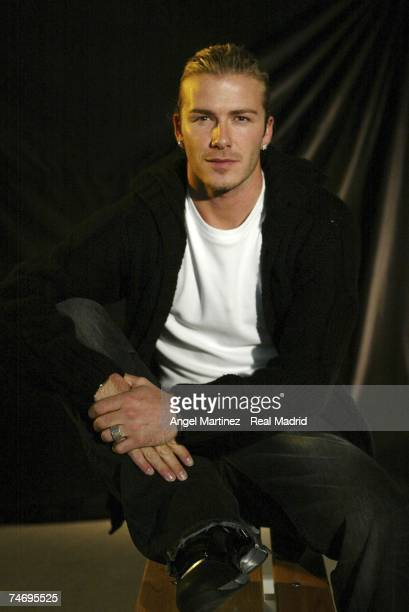 Real Madrid's David Beckham portrait on December 1 2003 in Madrid Spain