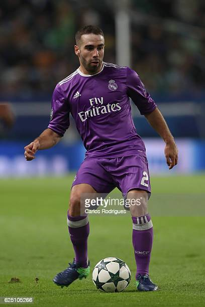 Real Madrid's defender Dani Carvajal from Spain during the Sporting Clube de Portugal v Real Madrid CF UEFA Champions League round five match at...