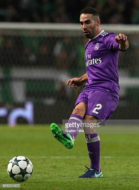 Real Madrid's defender Dani Carvajal from Spain in action during the UEFA Champions League match between Sporting Clube de Portugal and Real Madrid...