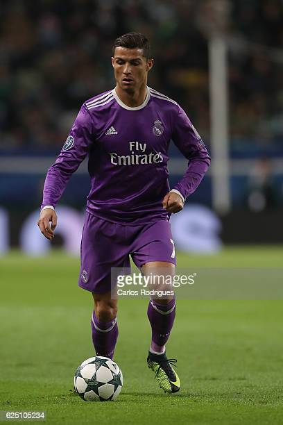 Real Madrid's forward Cristiano Ronaldo from Portugal during the Sporting Clube de Portugal v Real Madrid CF UEFA Champions League round five match...