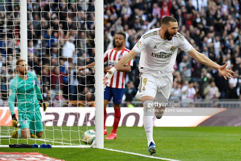FBL-ESP-LIGA-REAL MADRID-ATLETICO : News Photo