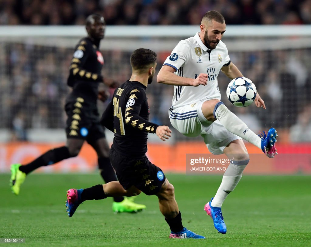 FBL-EUR-C1-REALMADRID-NAPOLI : News Photo