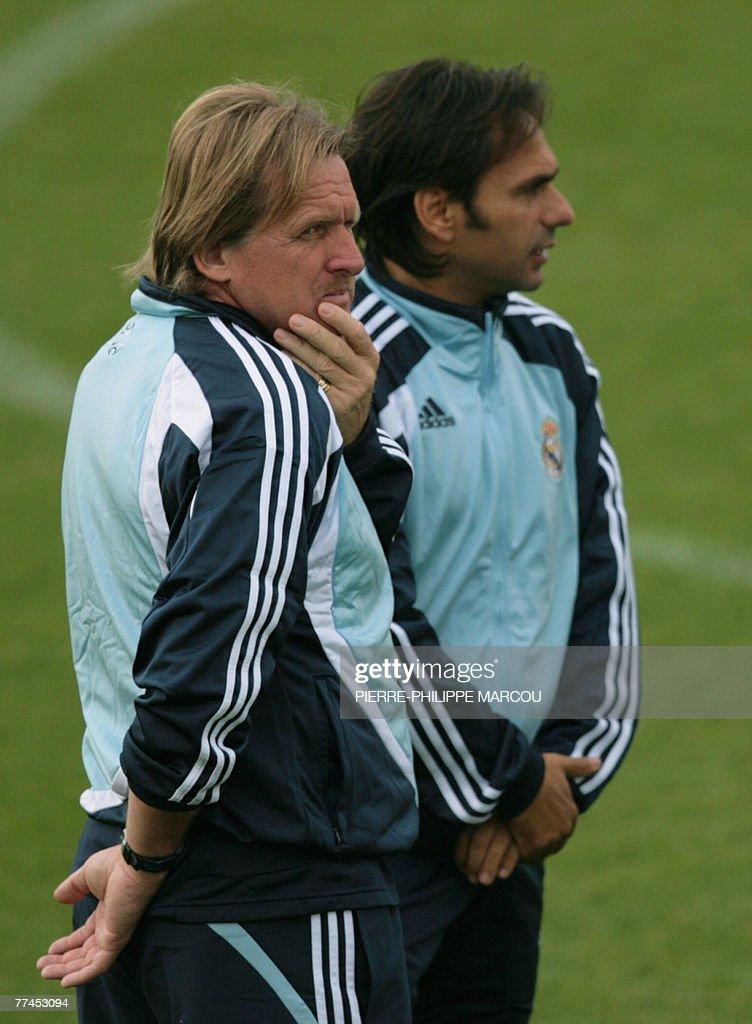 Real Madrid's German head coach Bernd Sc : Foto di attualità