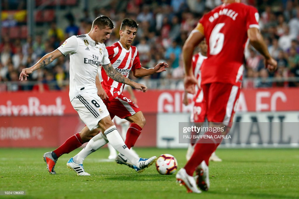 FBL-ESP-LIGA-GIRONA-REAL MADRID : News Photo