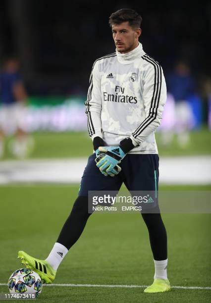 Real Madrid's goalkeeper Diego Altube Surez Paris Saint Germain v Real Madrid UEFA Champions League Group A Parc des Princes