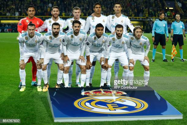 Real Madrid's goalkeeper from Costa Rica Keylor Navas Real Madrid's defender from Spain Sergio Ramos Real Madrid's midfielder from Germany Toni Kroos...