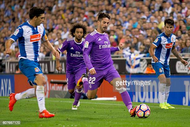 Real Madrid's Isco during spanish league match between RCD Espanyol and Real Madrid in in Cornellà on September 18 2016