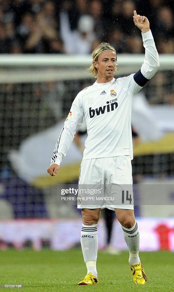 Real Madrid's midfielder Guti reacts during a Spanish League football match against Athletic Bilbao at Santiago Bernabeu stadium in Madrid on May 8, 2010.