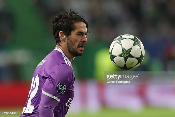 Real Madrid's midfielder Isco from Spain during the Sporting Clube de Portugal v Real Madrid CF UEFA Champions League round five match at Estadio...