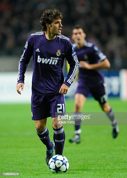 Real Madrid's midfielder Pedro Leon dribbles during the UEFA Champions League group G football match opposing Ajax Amsterdam and Real Madrid in...