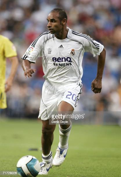 Real Madrid's new signing Emerson in action during a Primera Liga soccer match between Real Madrid and Villarreal at the Santiago Bernabeu stadium on...