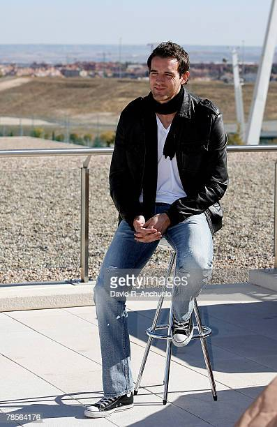 Real Madrid's player Christoph Metzelder gives a interview to Real Madrid TV after a team training session at Valdebebas stadium on November 12, 2007...