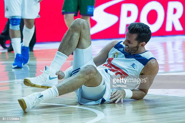 Real Madrid's player Rudy Fernandez during their ACB League basketball Real Madrid vs Unicaja match at the Sports Palace in Madrid Spain 30 September...