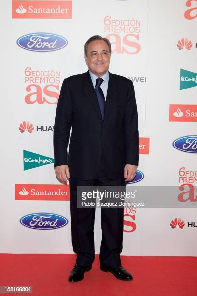 Real Madrid's President Florentino Perez attends 'As Del Deporte' Awards 2012 at The Westin Palace Hotel on December 10 2012 in Madrid Spain