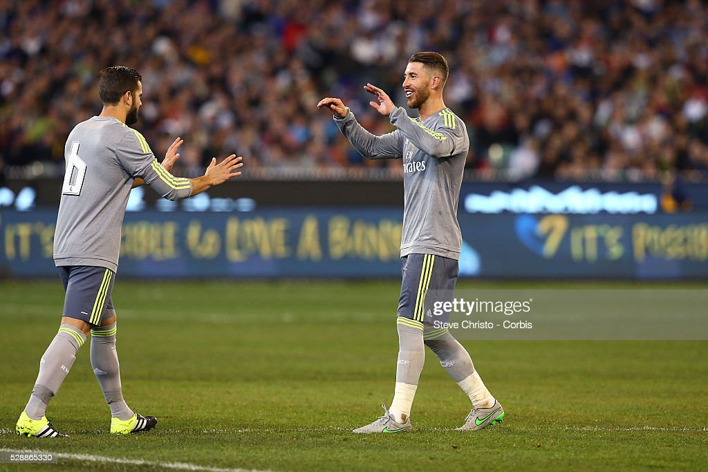Sergio Ramos Soccer Real Madrid Stadium Soccer Pitches: Real Madrid's Sergio Ramos Walks Off The Pitch During The