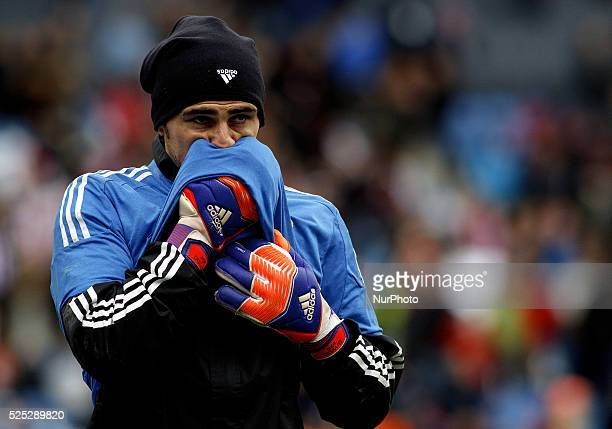 Real Madrids Spanish goalkeeper Iker Casillas during the Spanish League 2014/15 match between Atletico de Madrid and December 14 at Vicente Calderon...