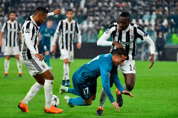 Juventus players in action against Real Madrid during UEFA Champions League 2017/18