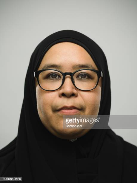 real malaysian woman with hijab - fat asian woman stock pictures, royalty-free photos & images