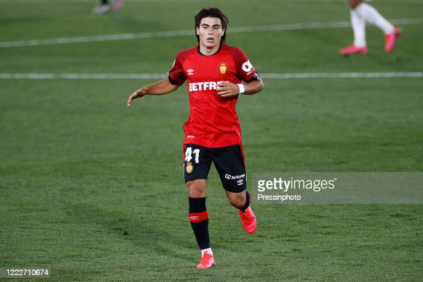 Real Mallorca 15 years old debutant Luka Romero during the La Liga match between Real Madrid and RCD Mallorca played at Alfredo Di Stefano Stadium on...