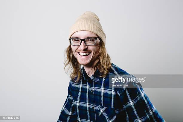 Real Mann lacht Porträt