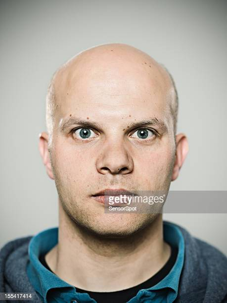 real man. - completely bald stock pictures, royalty-free photos & images