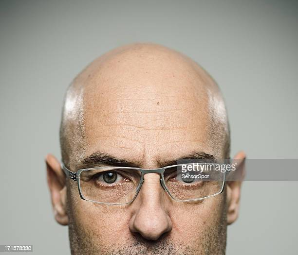 real man - completely bald stock pictures, royalty-free photos & images