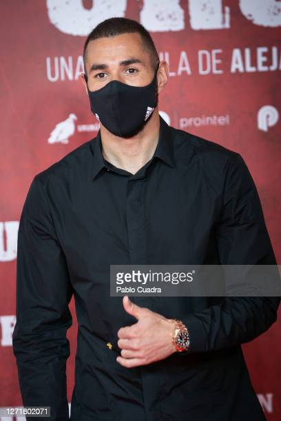 Real Mdrid Player Karim Benzema attends 'Urubu' premiere at Callao Cinema on September 10 2020 in Madrid Spain