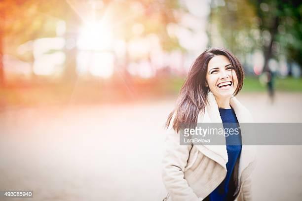 Real mittleren Alter Frau im park