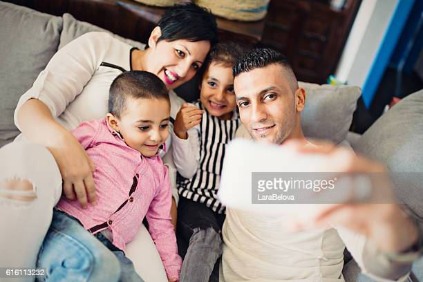 Real mixed race spouses of different religious with kids