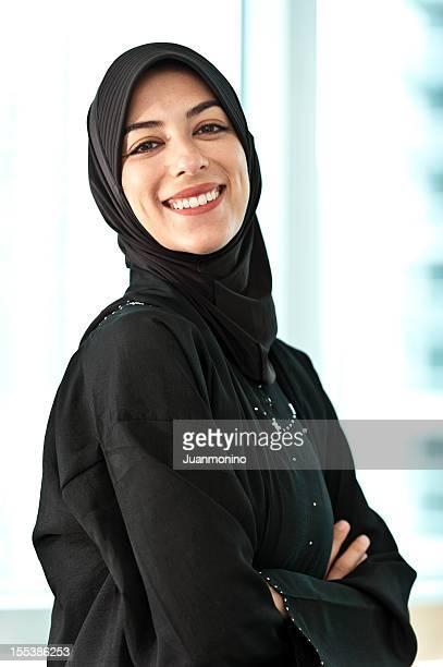 Real muslimischer junge Frau